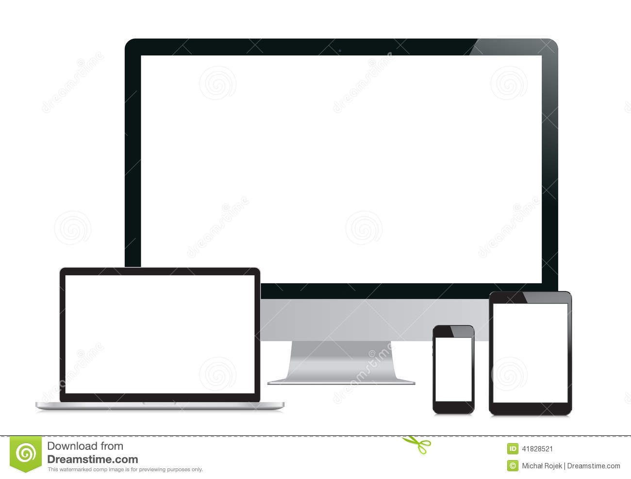 Set Of Modern Digital Devices Stock Vector Image 41828521