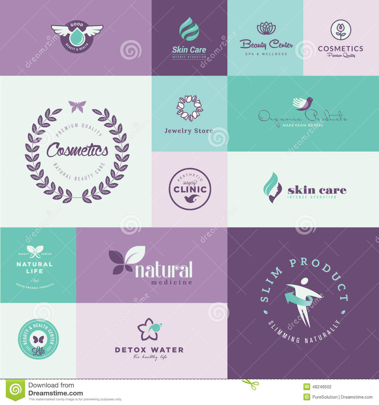 Set of modern flat design beauty and healthcare icons - Beauty design ...