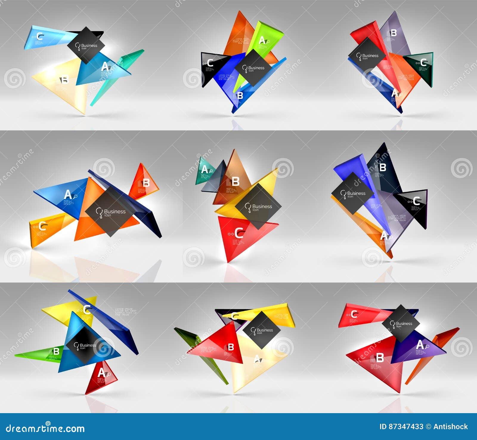 Set Of Modern Geometrical Concepts, Design Elements Stock ...