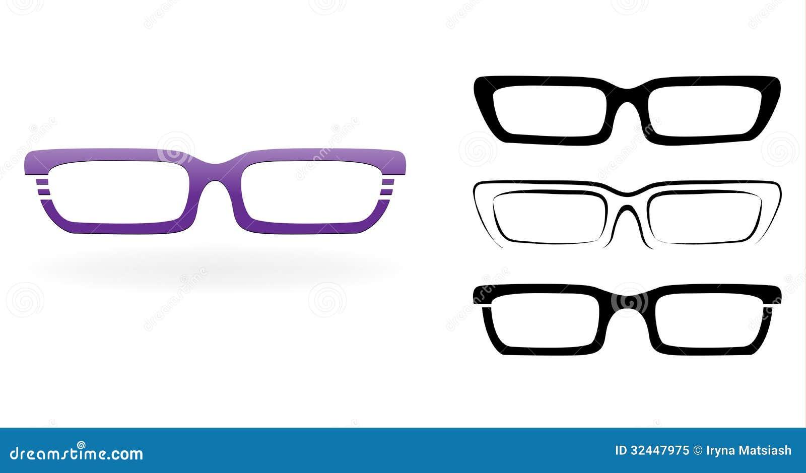 Set Of Modern Glasses Royalty Free Stock Photo - Image ...