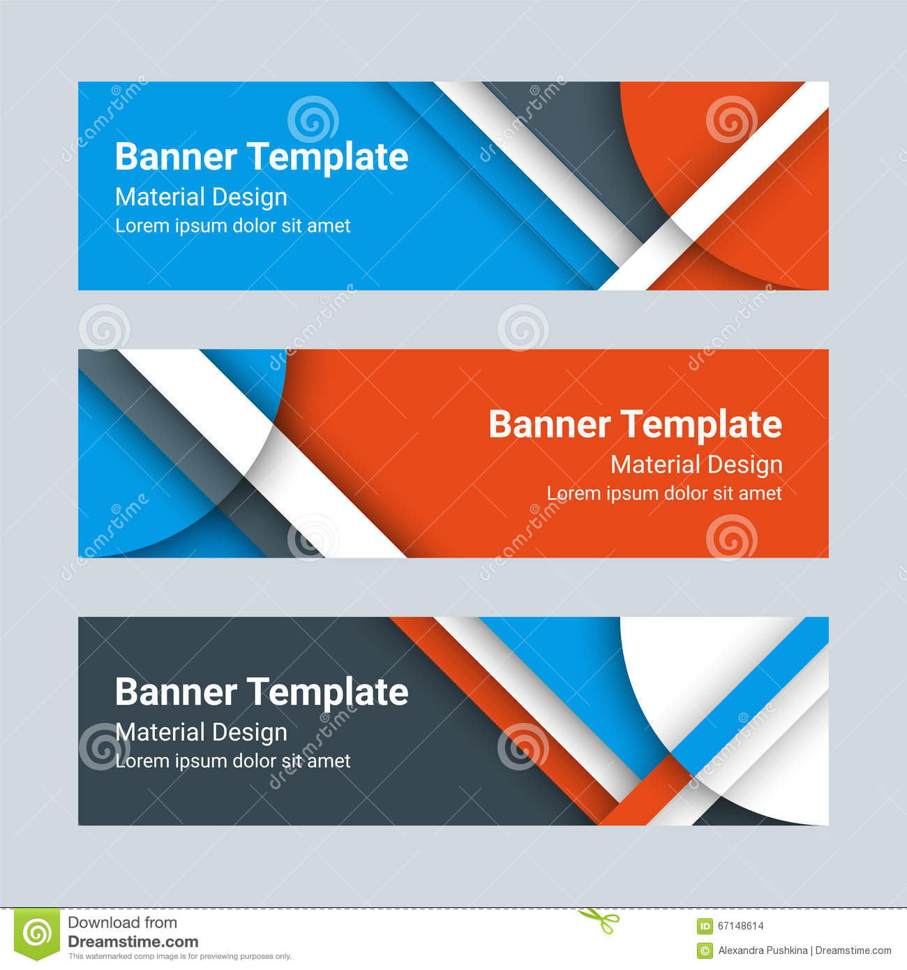 Design vector banner - Set Of Modern Horizontal Vector Banners In A Material Design Style Can Be Used As