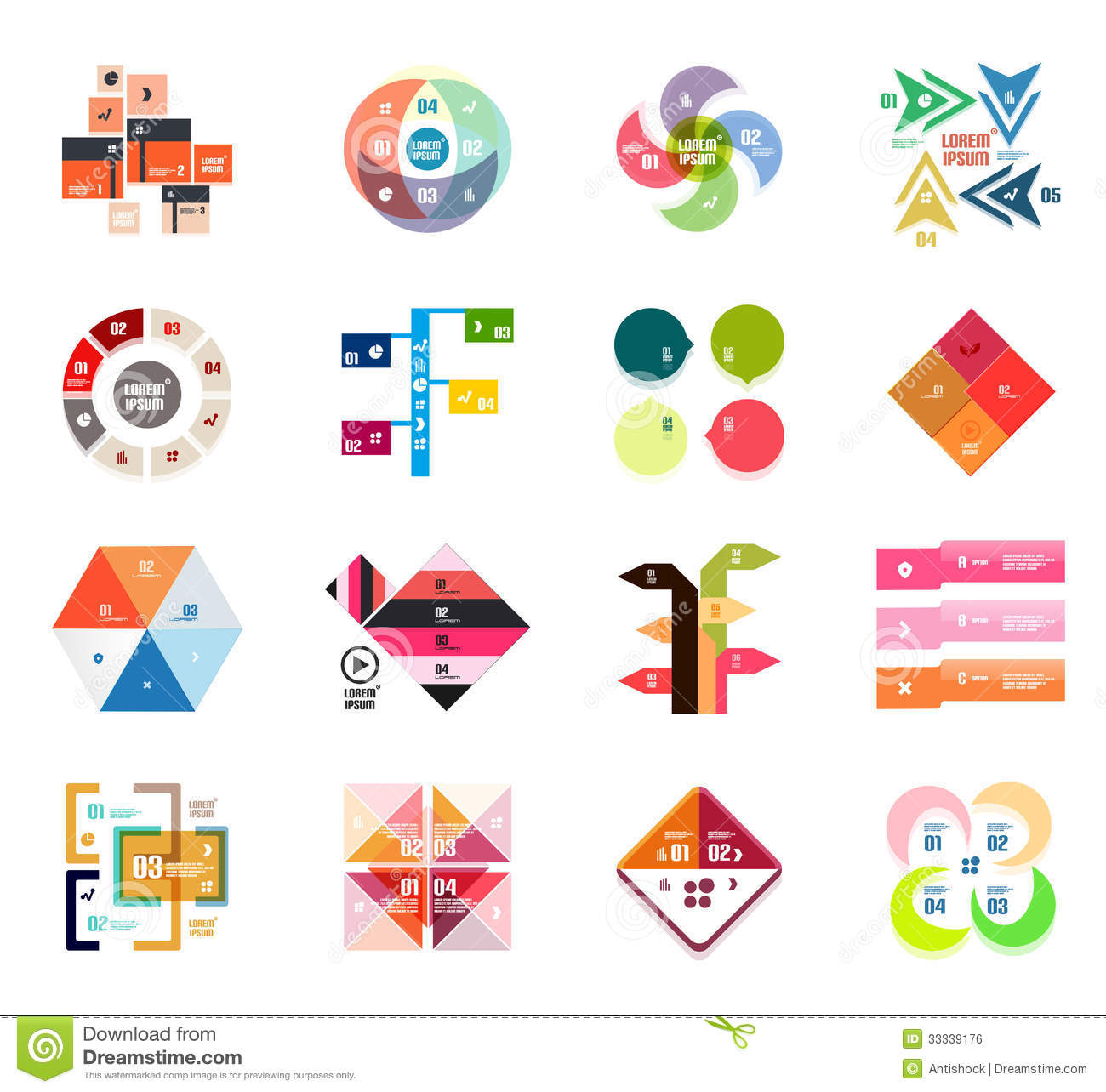 Set Of Modern Infographic Design Templates Stock Images - Image ...