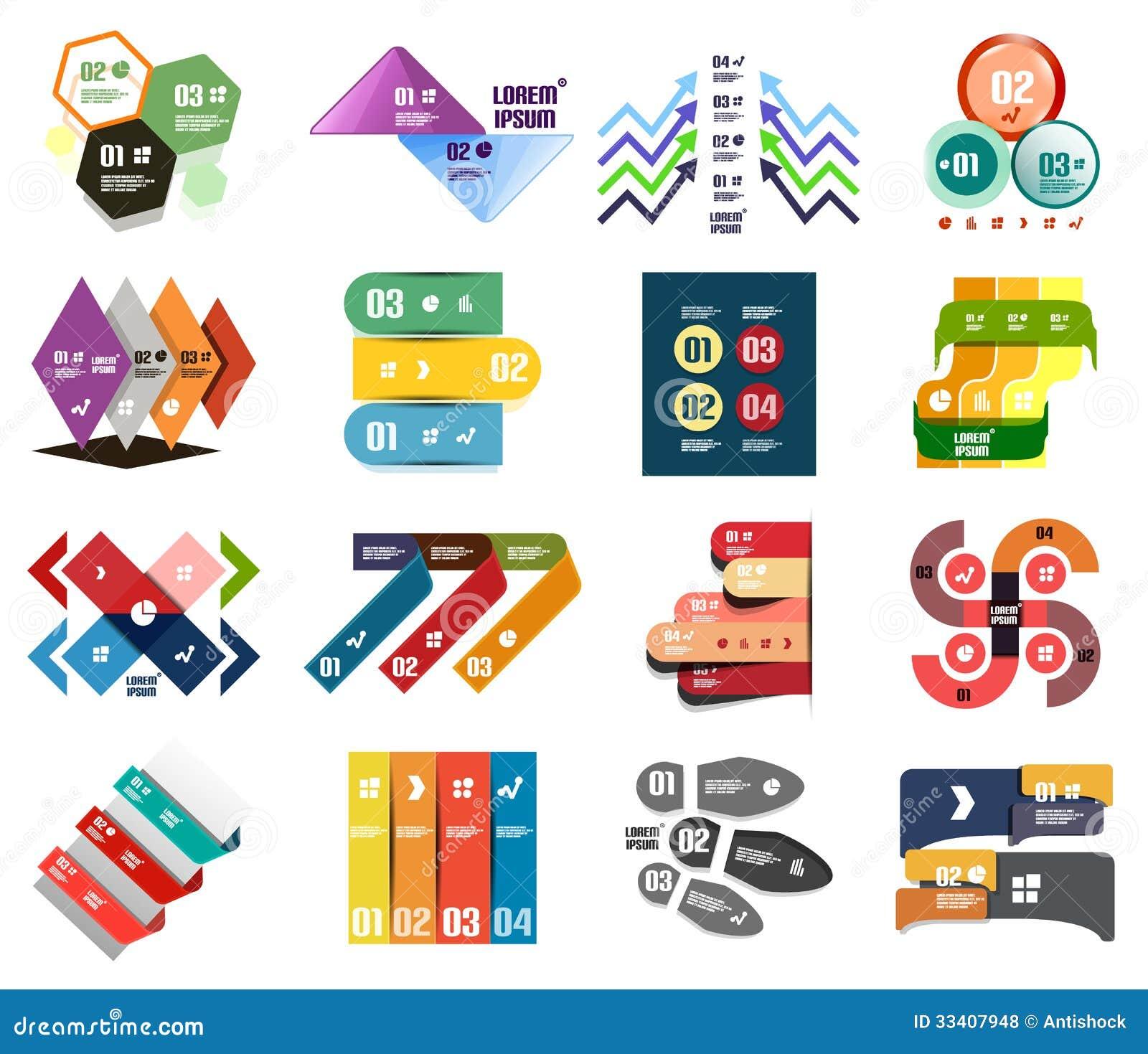 Set Of Modern Infographic Design Templates Stock Photos - Image ...