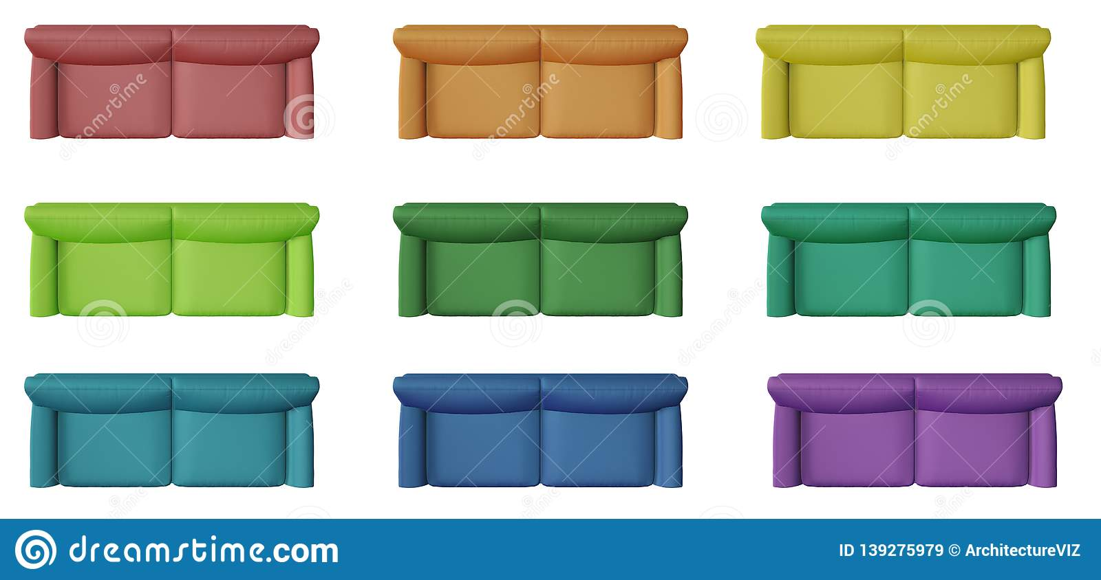Superb Set Of 9 Modern Monochrome And Colored Sofa Isolated On Download Free Architecture Designs Xoliawazosbritishbridgeorg