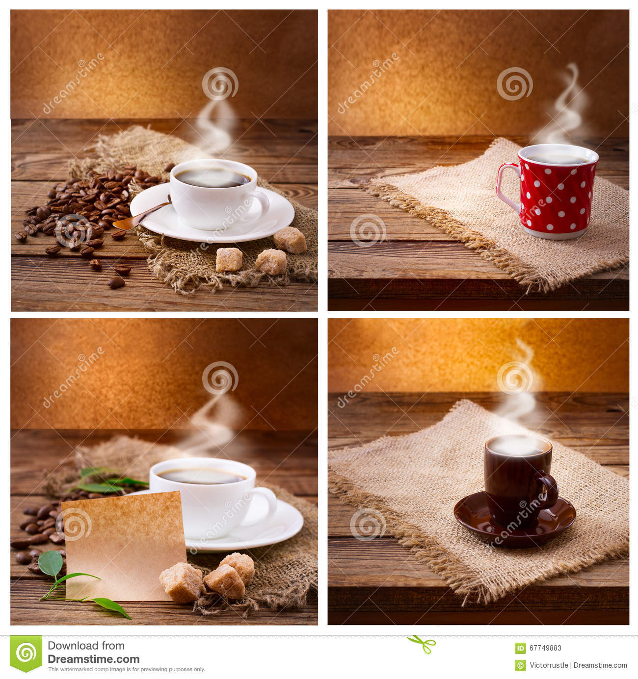 set of modern posters with coffee backgrounds trendy hipster