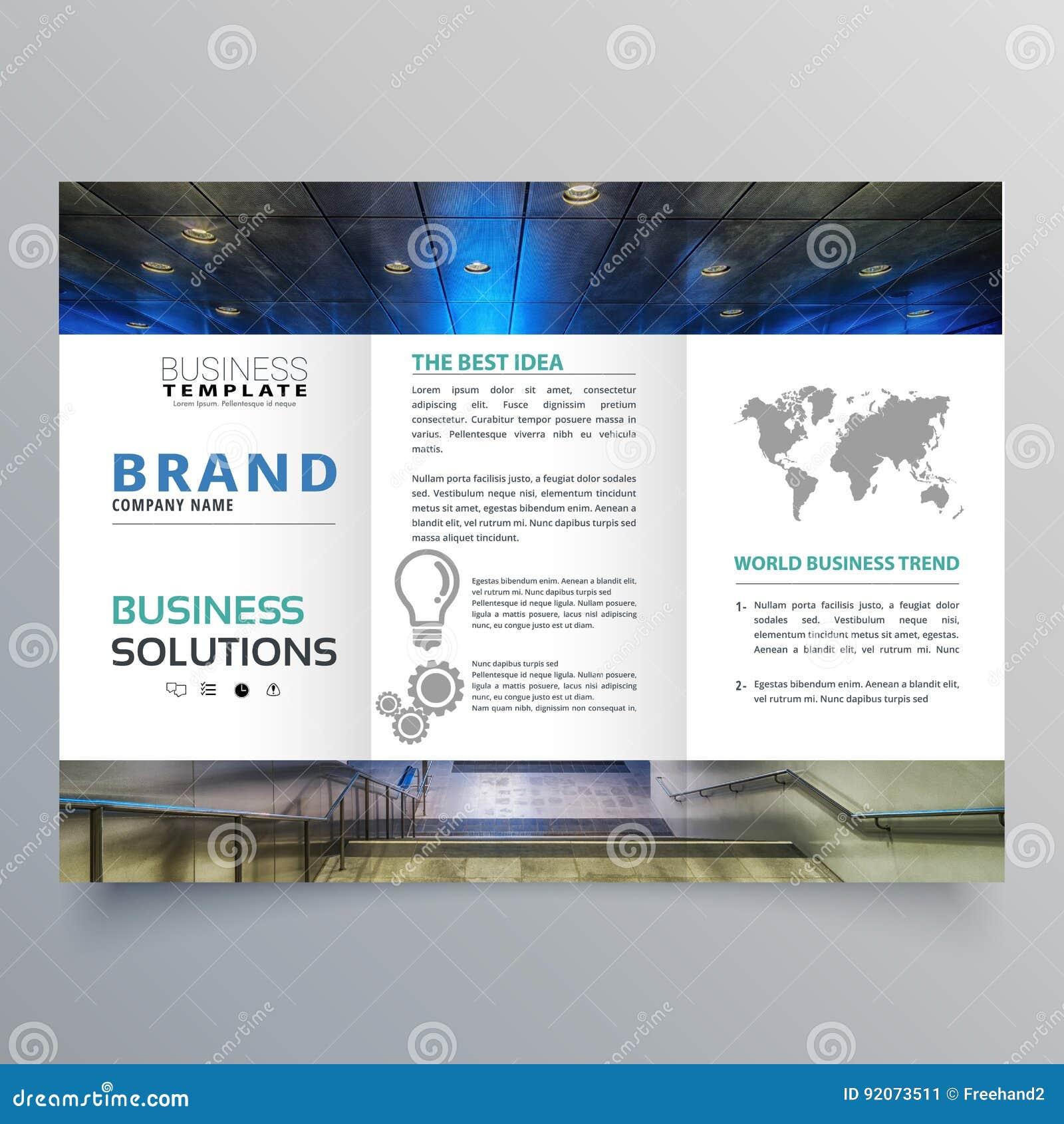 Set of modern trifold brochure flyer