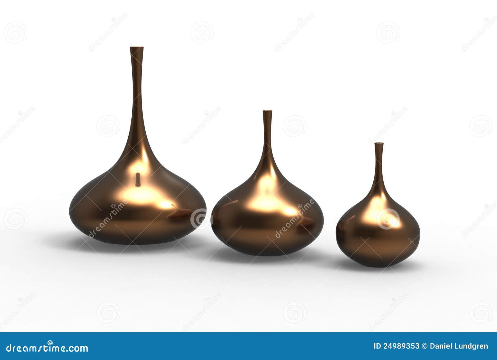 set of modern vases stock photos image 24989353. Black Bedroom Furniture Sets. Home Design Ideas