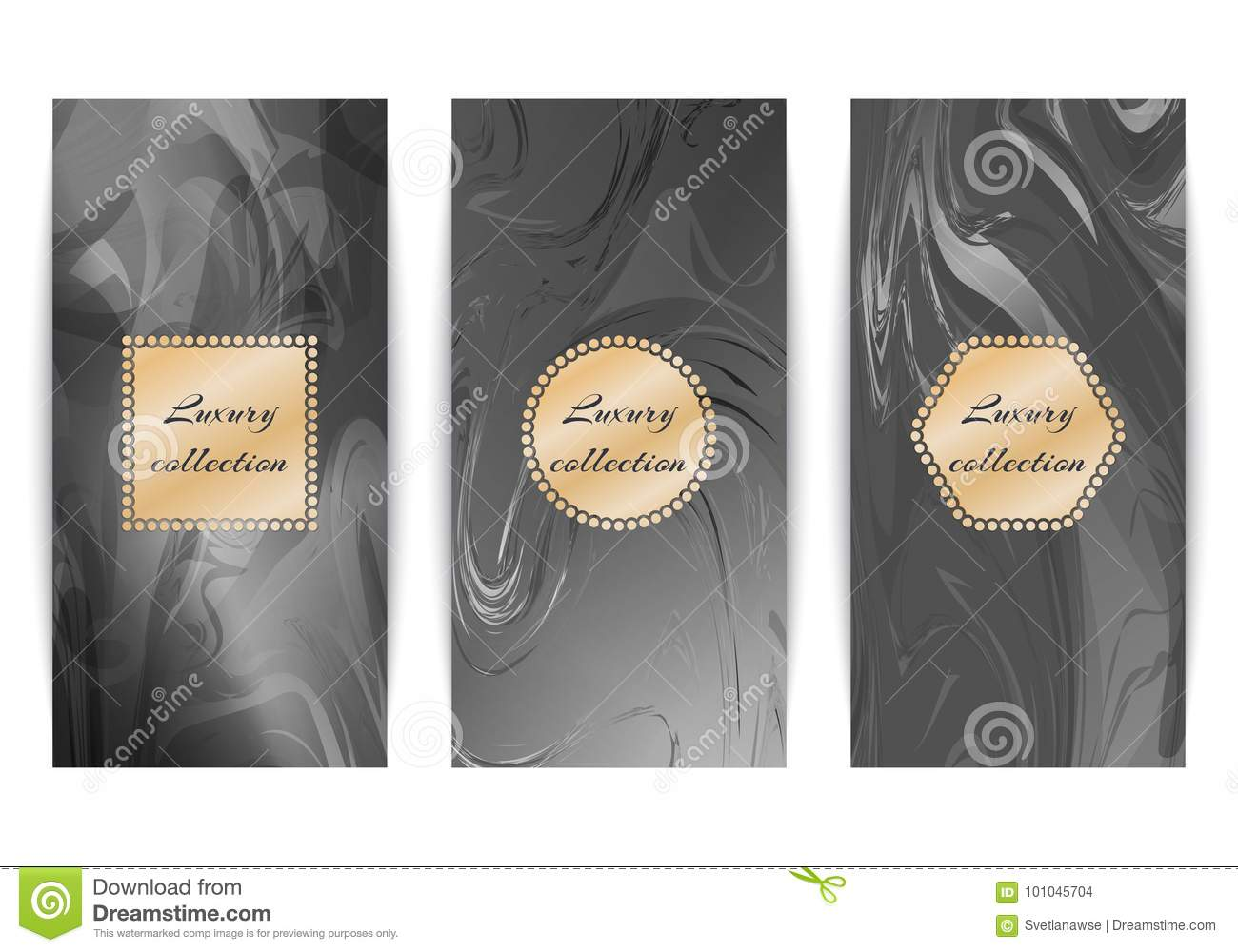 Set of luxury marble backgrounds