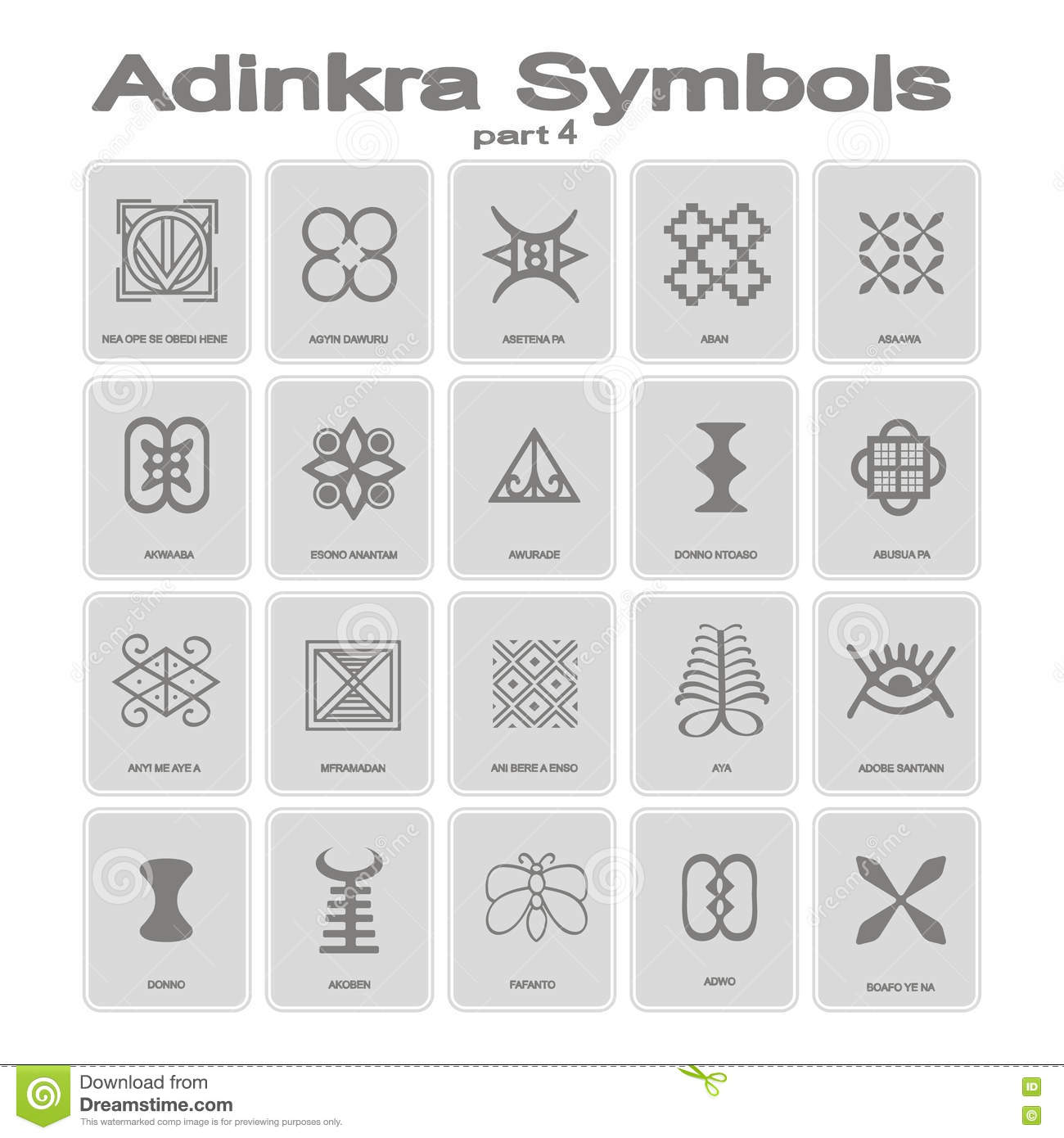 Set of monochrome icons with adinkra symbols stock vector set of monochrome icons with adinkra symbols biocorpaavc Image collections