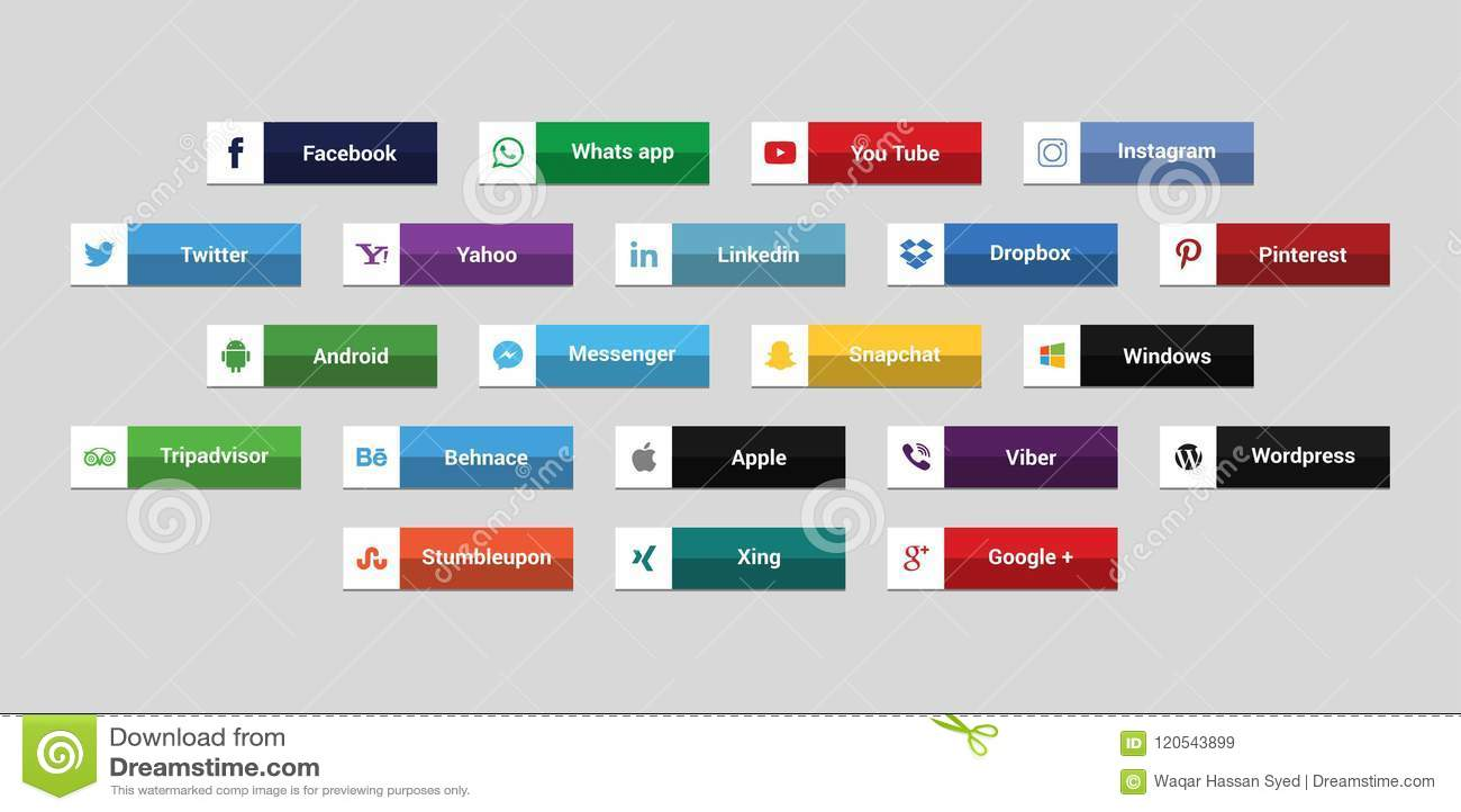Set Of Most Popular Social Media Icons: Twitter,linkedin
