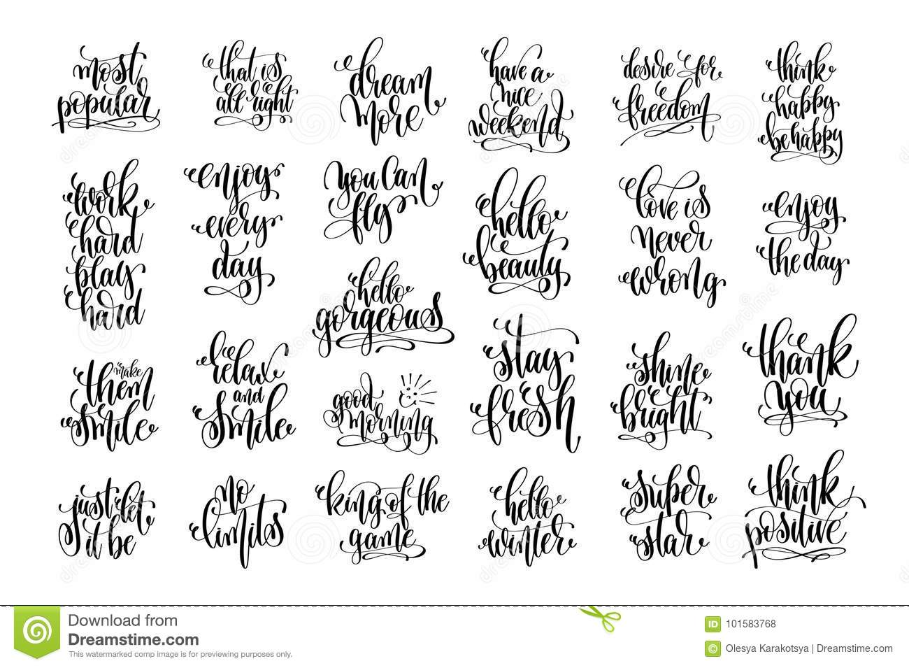 photograph relating to Printable Inspirational Sayings named Established Of 25 Motivational And Inspirational Rates Inventory Vector