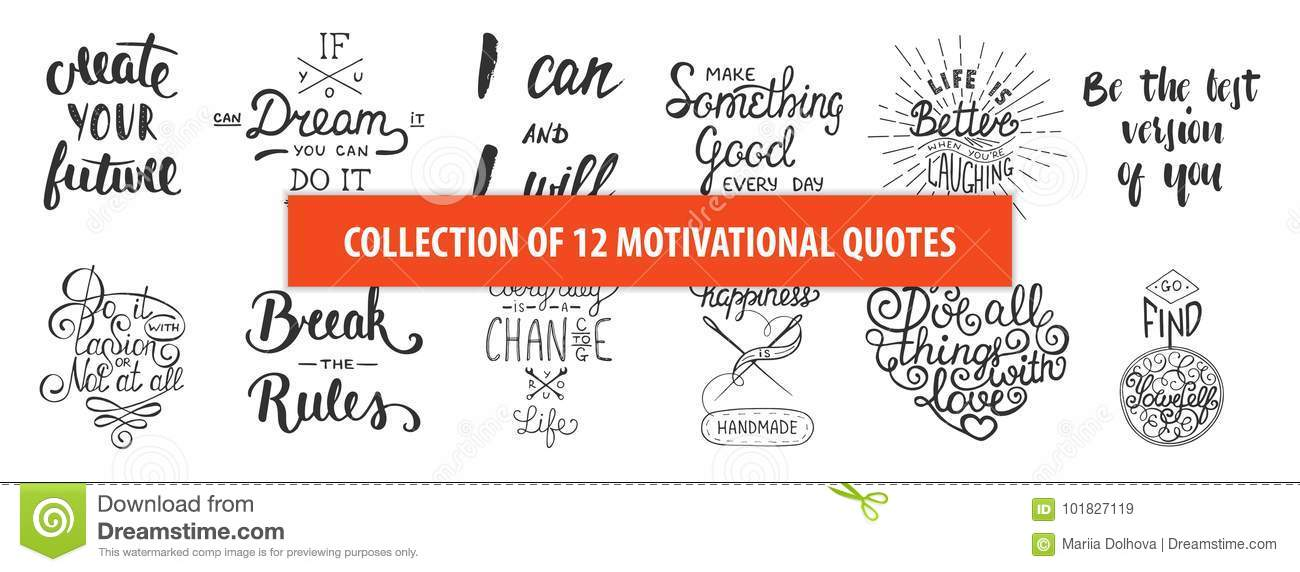 Set of motivational and inspirational vector hand drawn unique download set of motivational and inspirational vector hand drawn unique typography greeting cards decoration m4hsunfo