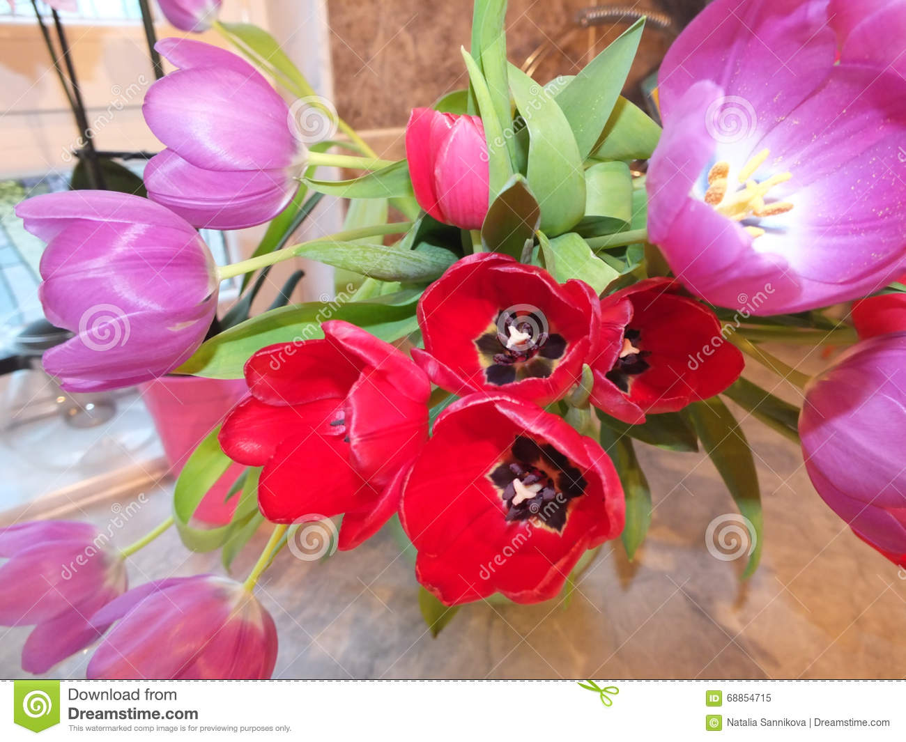 Set Of Multicolored Flowers Stock Image - Image of gift, event: 68854715