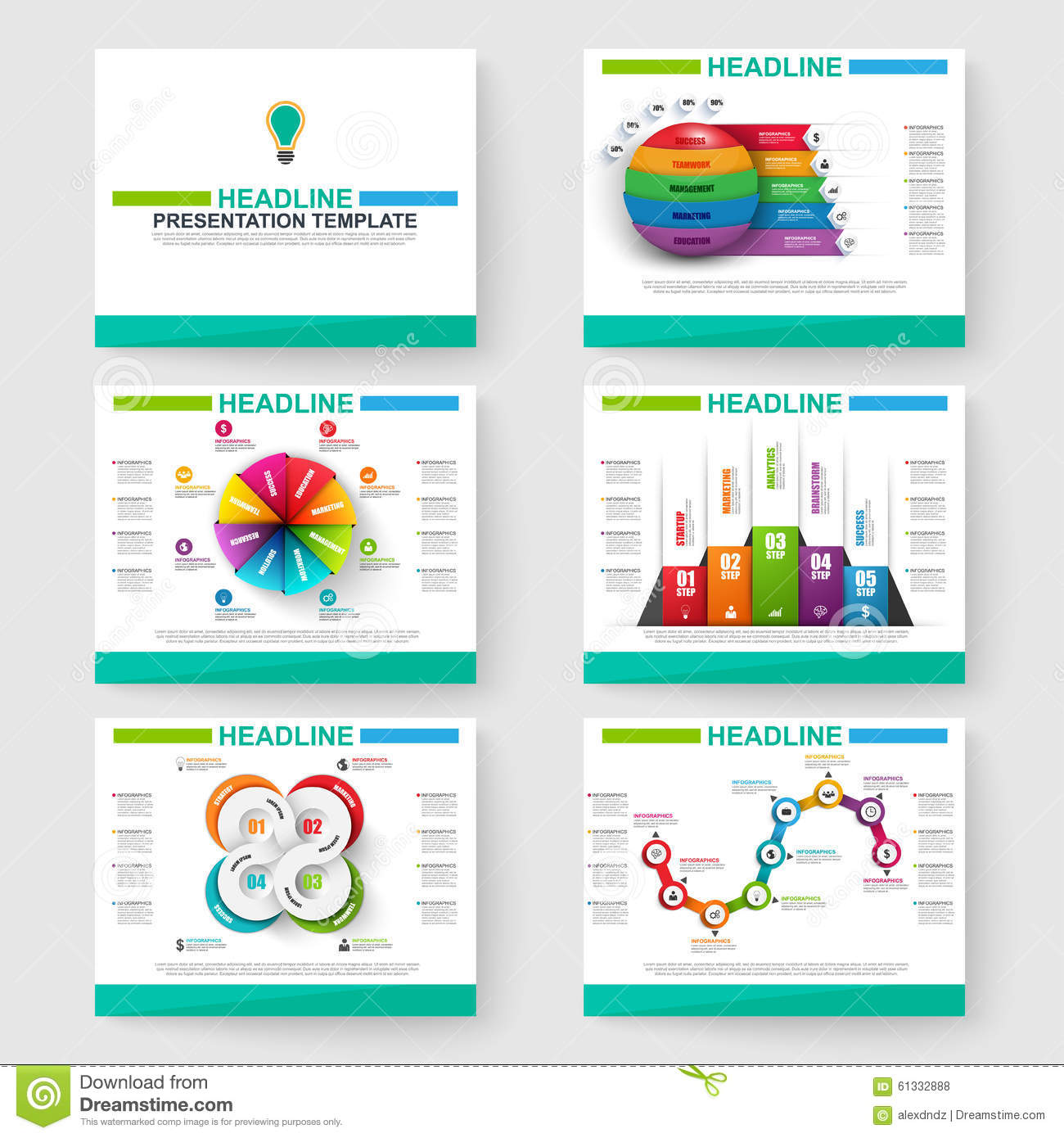 set of multipurpose presentation infographic for powerpoint stock, Modern powerpoint