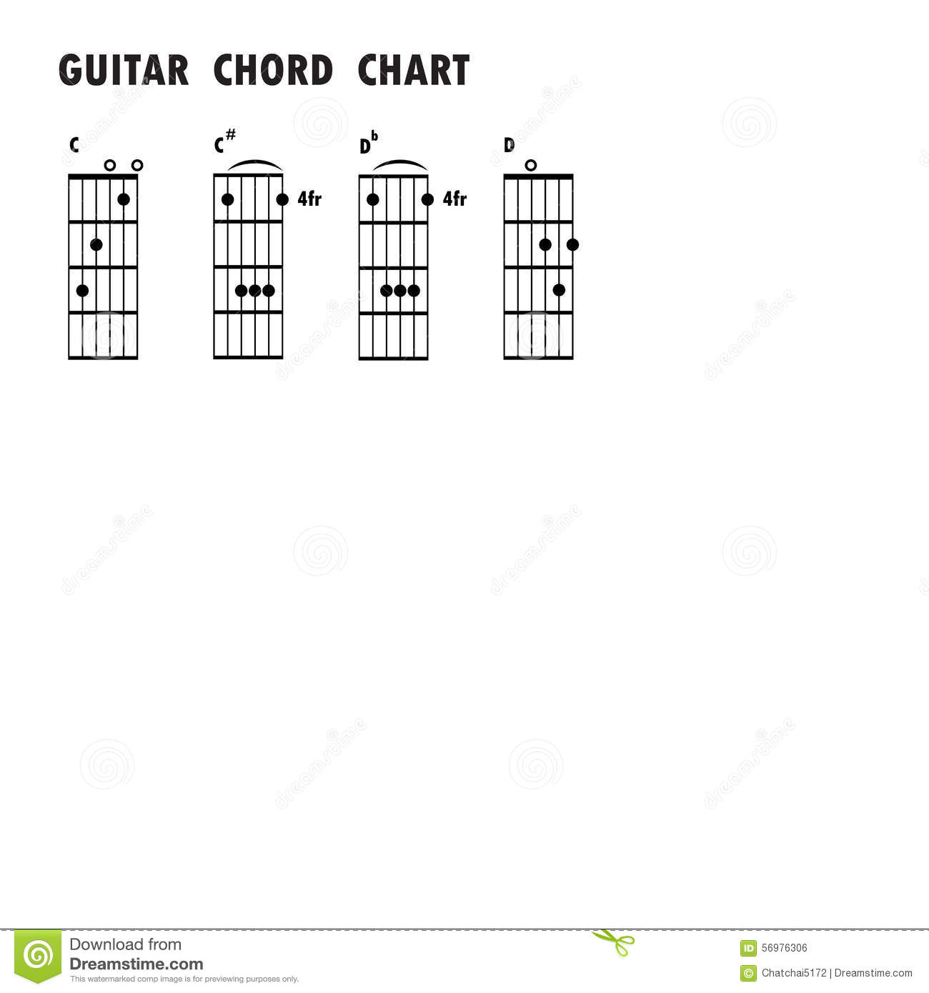 Set Of Music Notes Abstract Musical Background Basic Guitar Ch