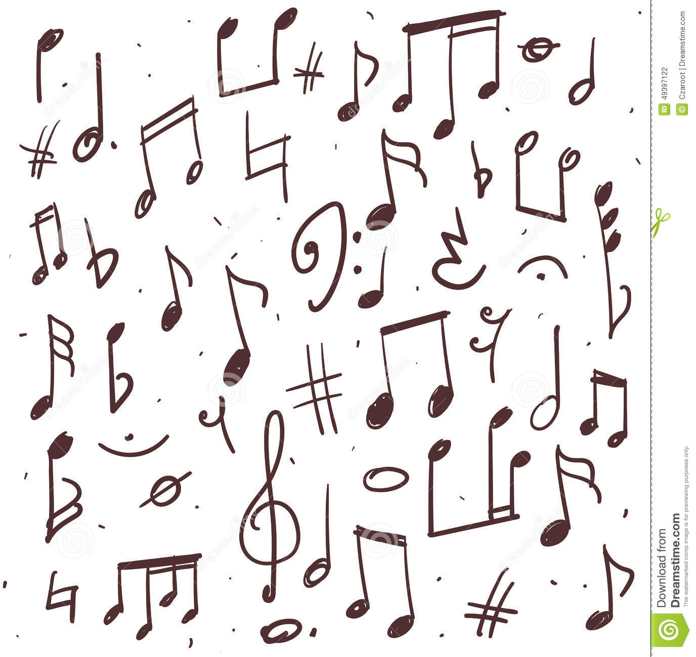 Set Of Music Notes Stock Vector Illustration Of Background 49397122