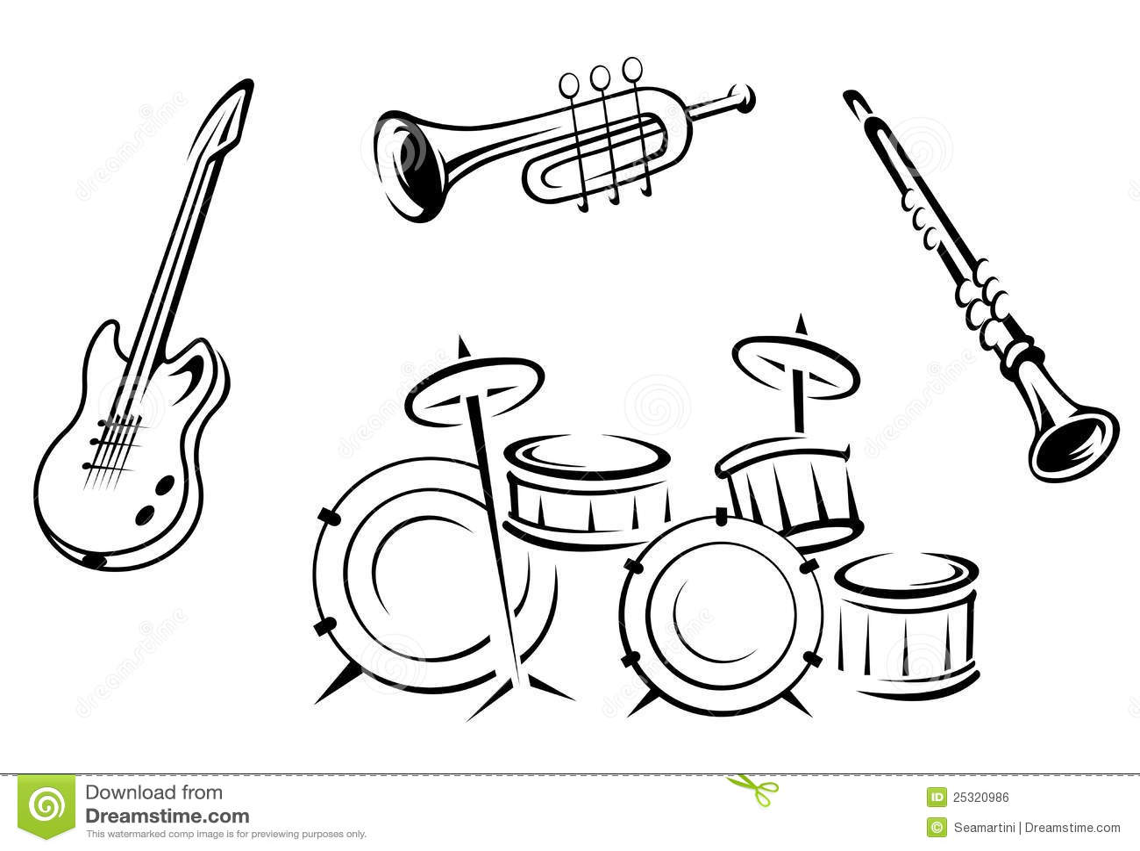 Set Musikinstrumente Lizenzfreies Stockbild - Bild: 25320986