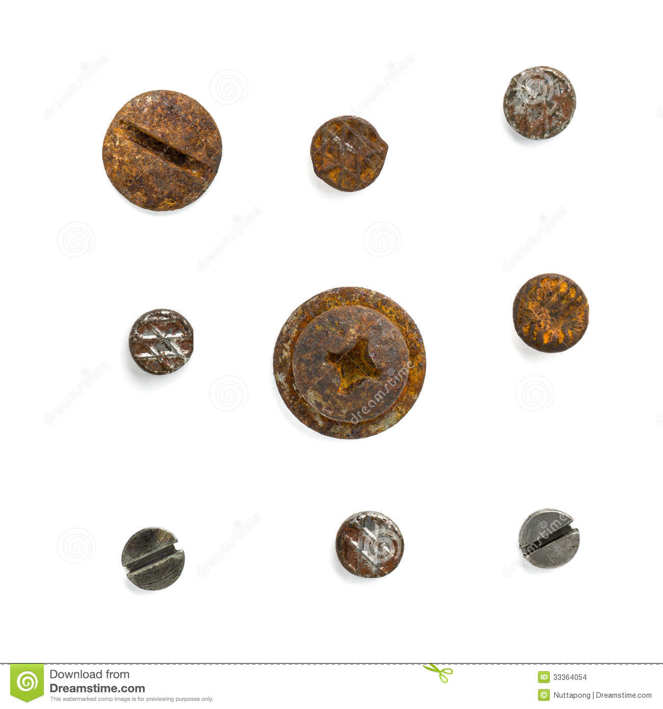 Download Set Of Nail Head Stock Photo Image Close Abstract