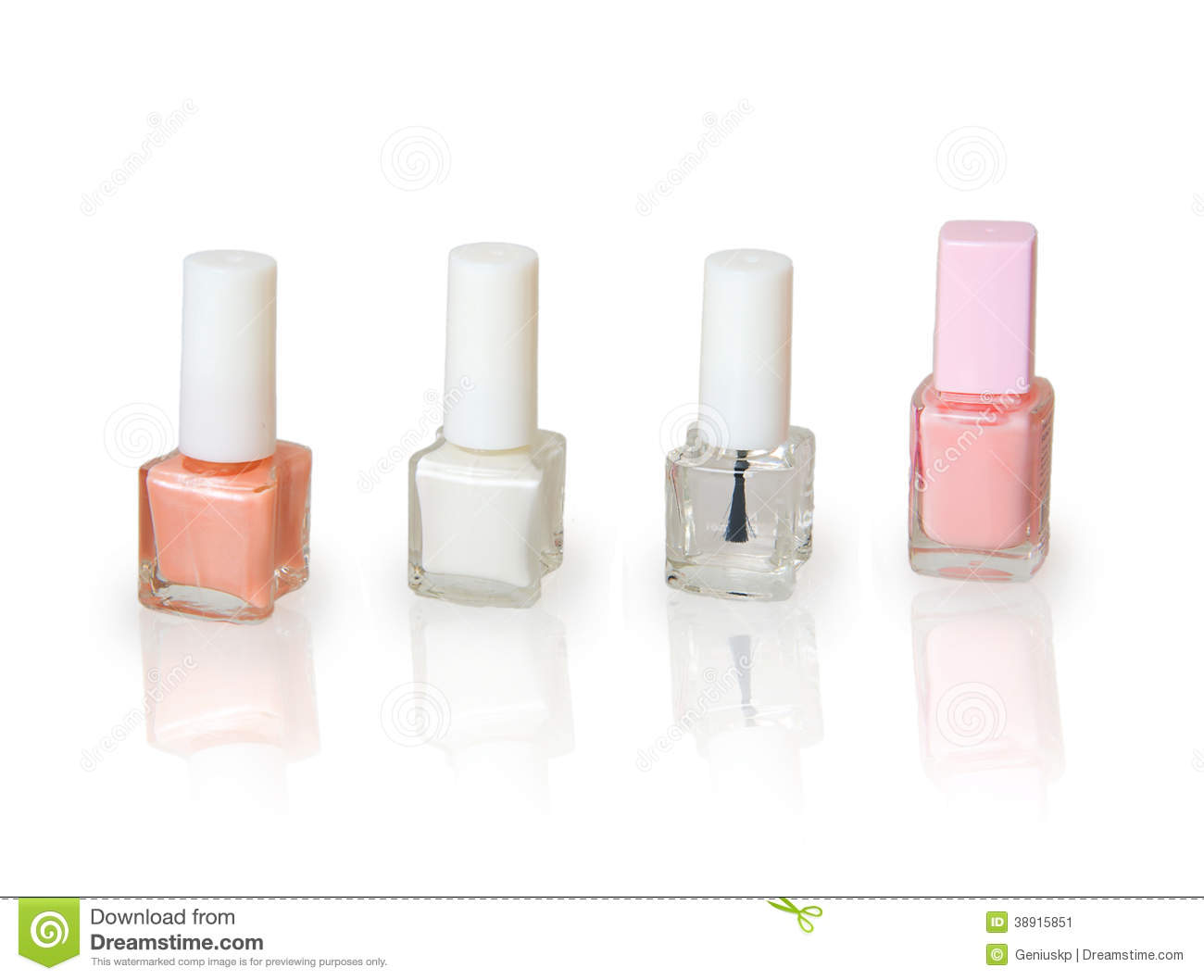 Set Of Nail Polish For French Manicure Stock Image - Image of color ...
