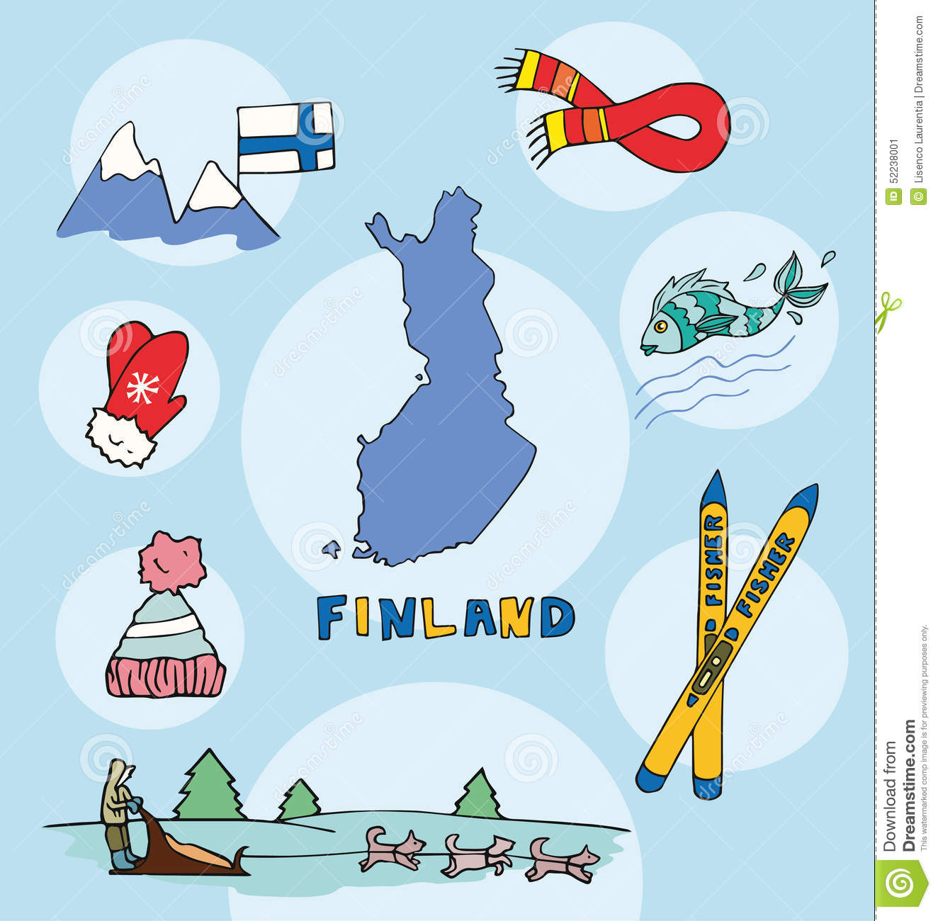 The Set Of National Profile Of The Finland Stock Vector ...