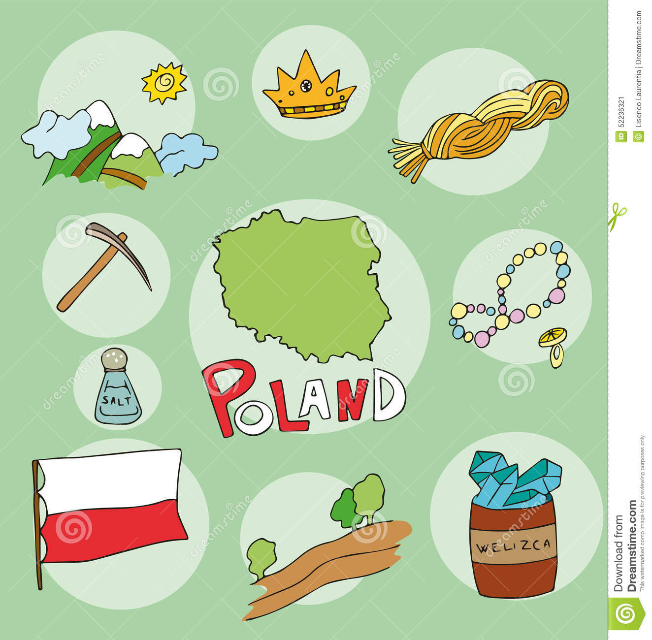The Set Of National Profile Of The Poland Stock Vector ...