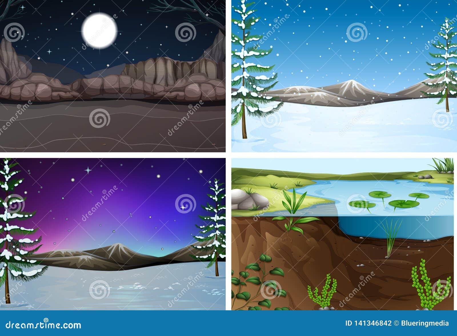 Set natura krajobraz
