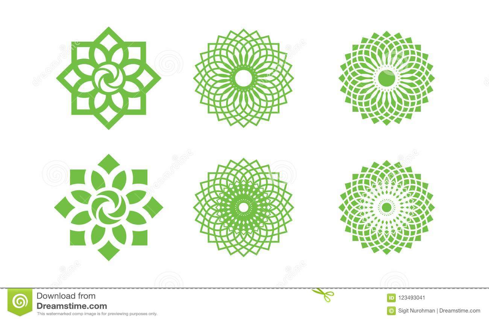 set of nature leaf logo environment logo ecology logo template
