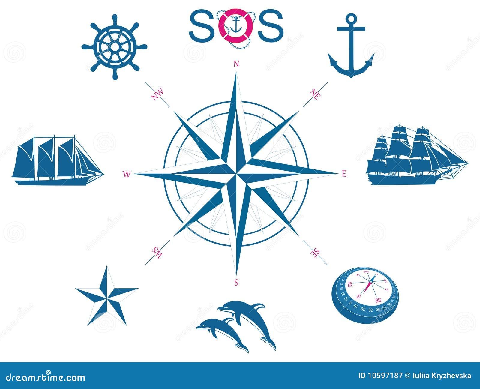Nautical Symbols And Meanings Set Of Nautical Symbol...