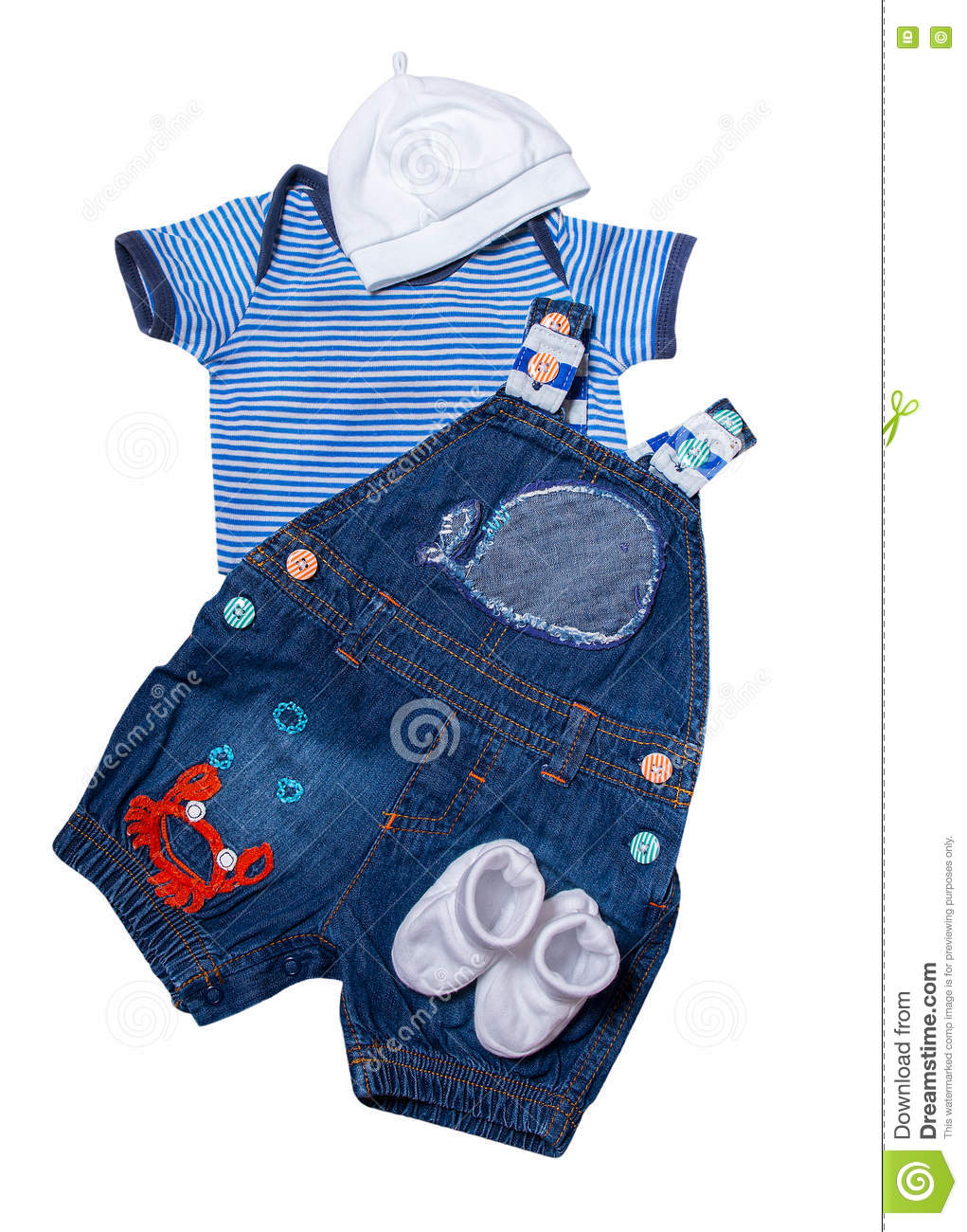 Set Newborn Baby Clothes Marine Style Stock