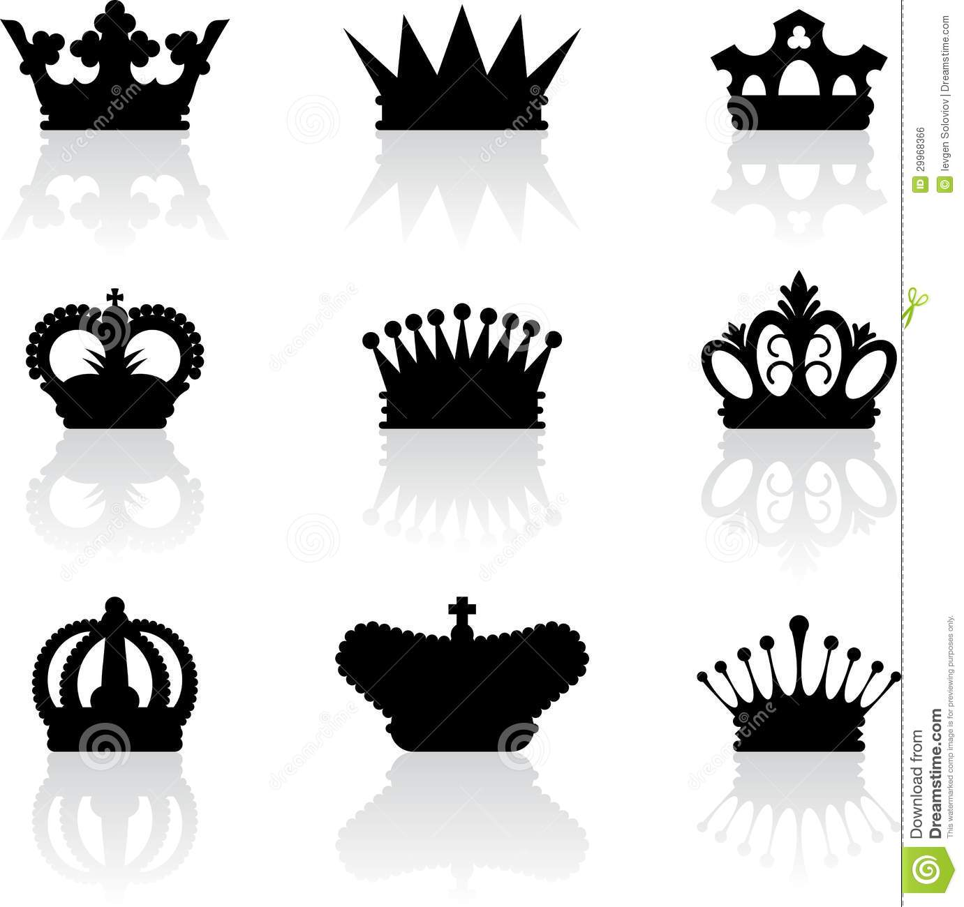 King crown icons stock vector. Illustration of emperor ...