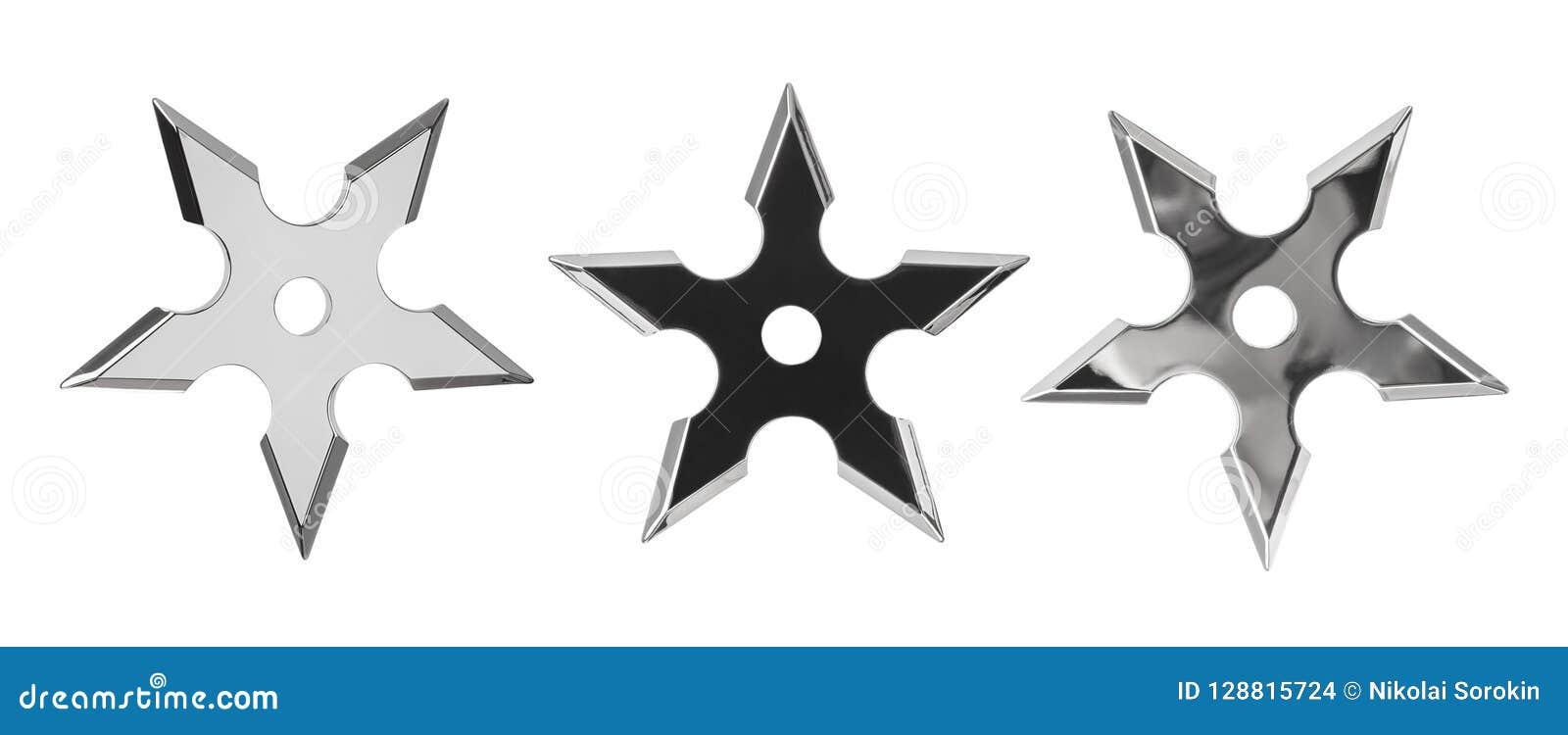 Set ninja gwiazdy shurikens