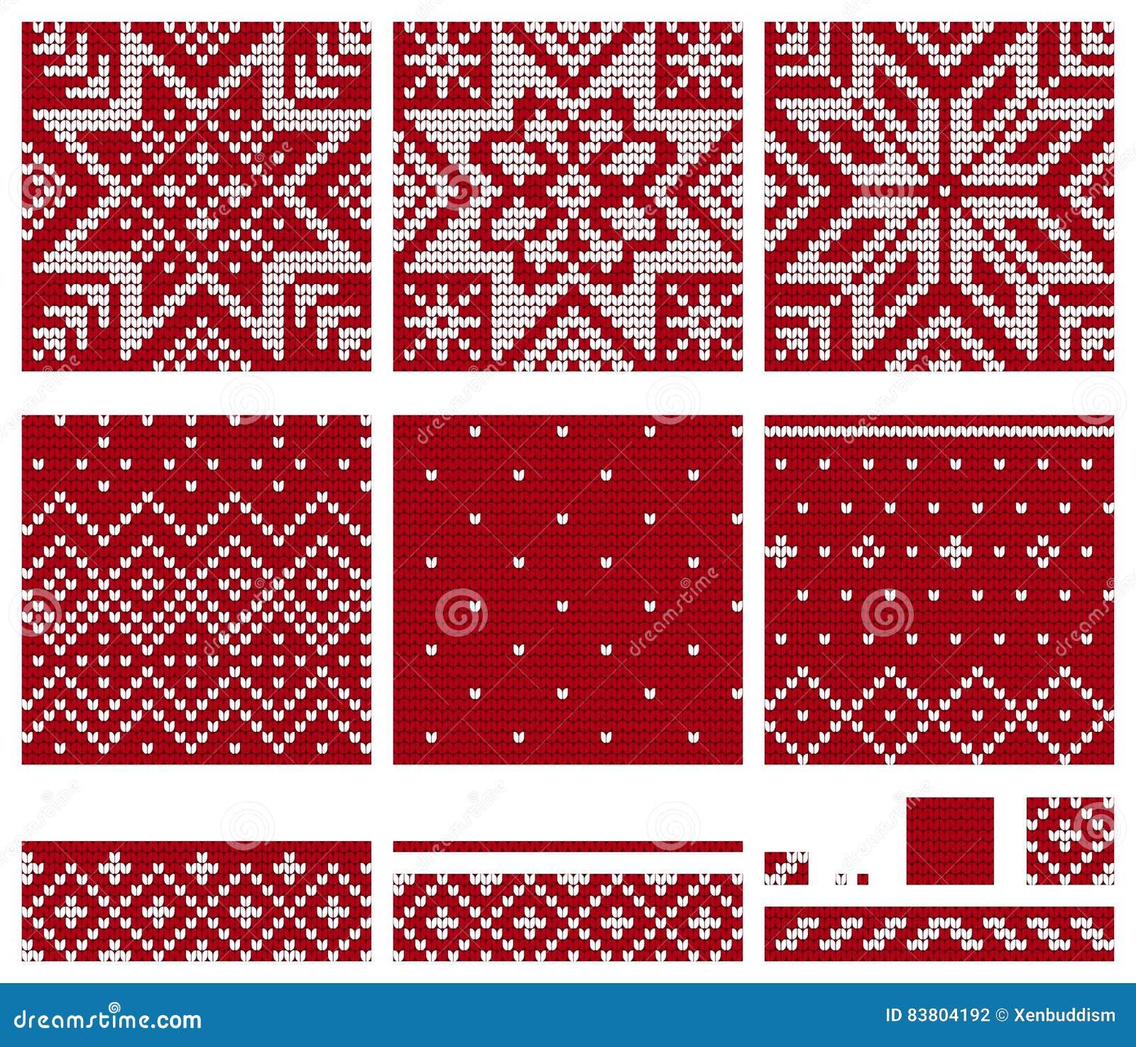 Set Of Norwegian Star Knitting Patterns Stock Illustration ...
