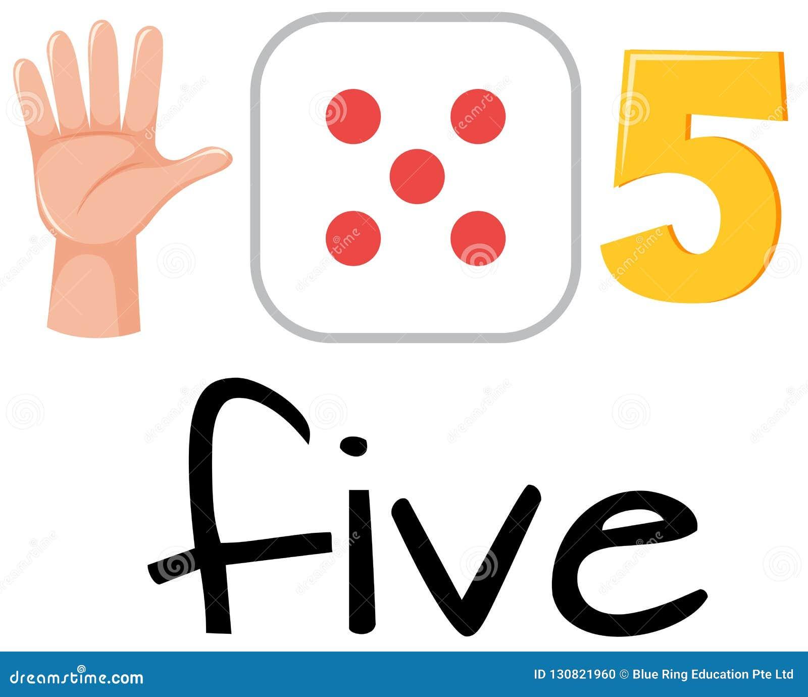 Set of number five