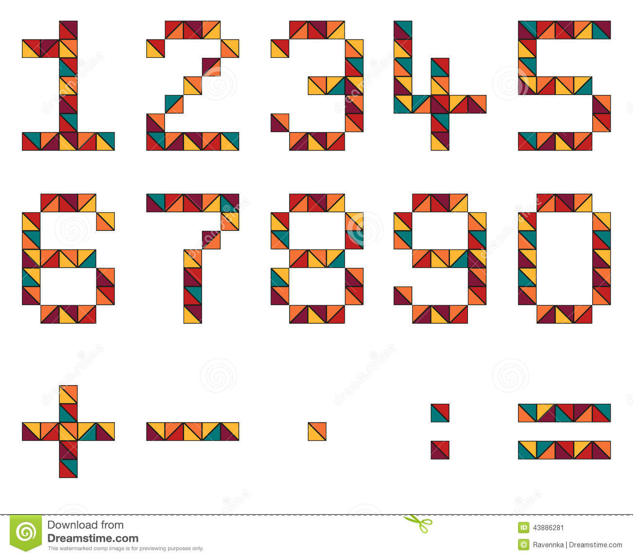 Set of numbers and math symbols in geometric style made of color set of numbers and math symbols in geometric style made of color biocorpaavc Gallery