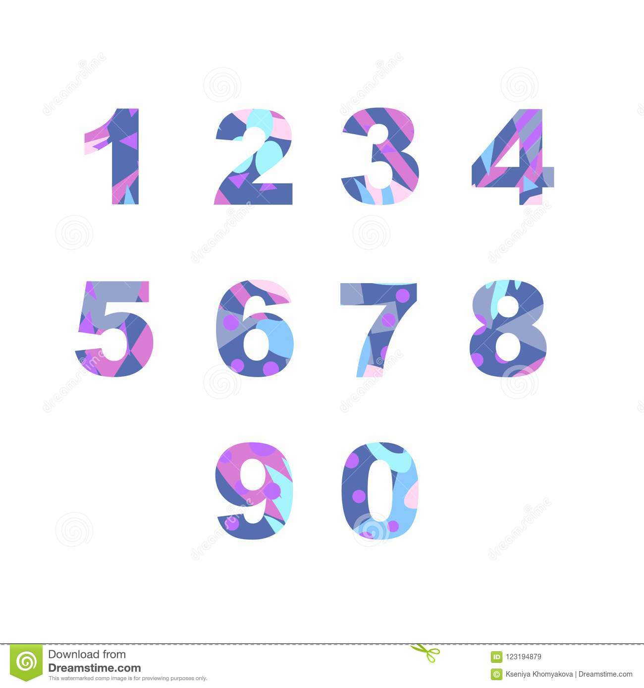 Numbers with abstract fill