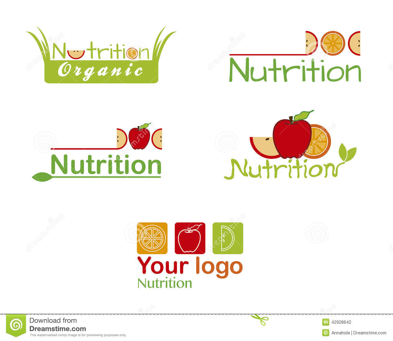 set nutrition logos fruit stock vector image 42928642 clipart of rainbow people clipart of rainbow trout