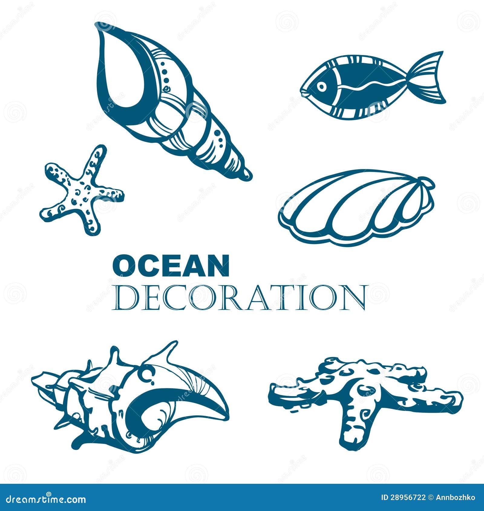 Set ocean dekoracja