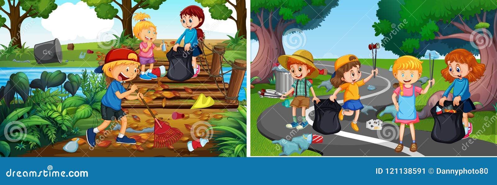 Set Odpowiedzialni Ochotniczy dzieciaki