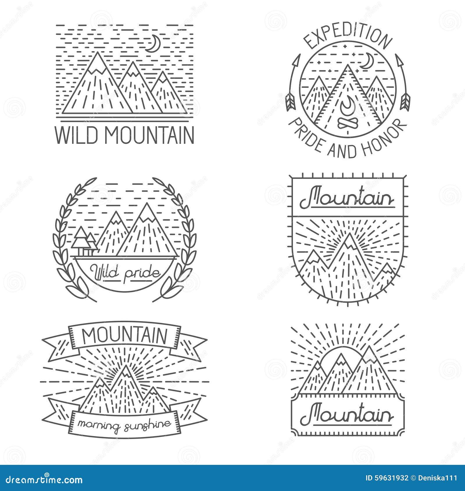 Set odznaki, etykietki, projektów elementy i