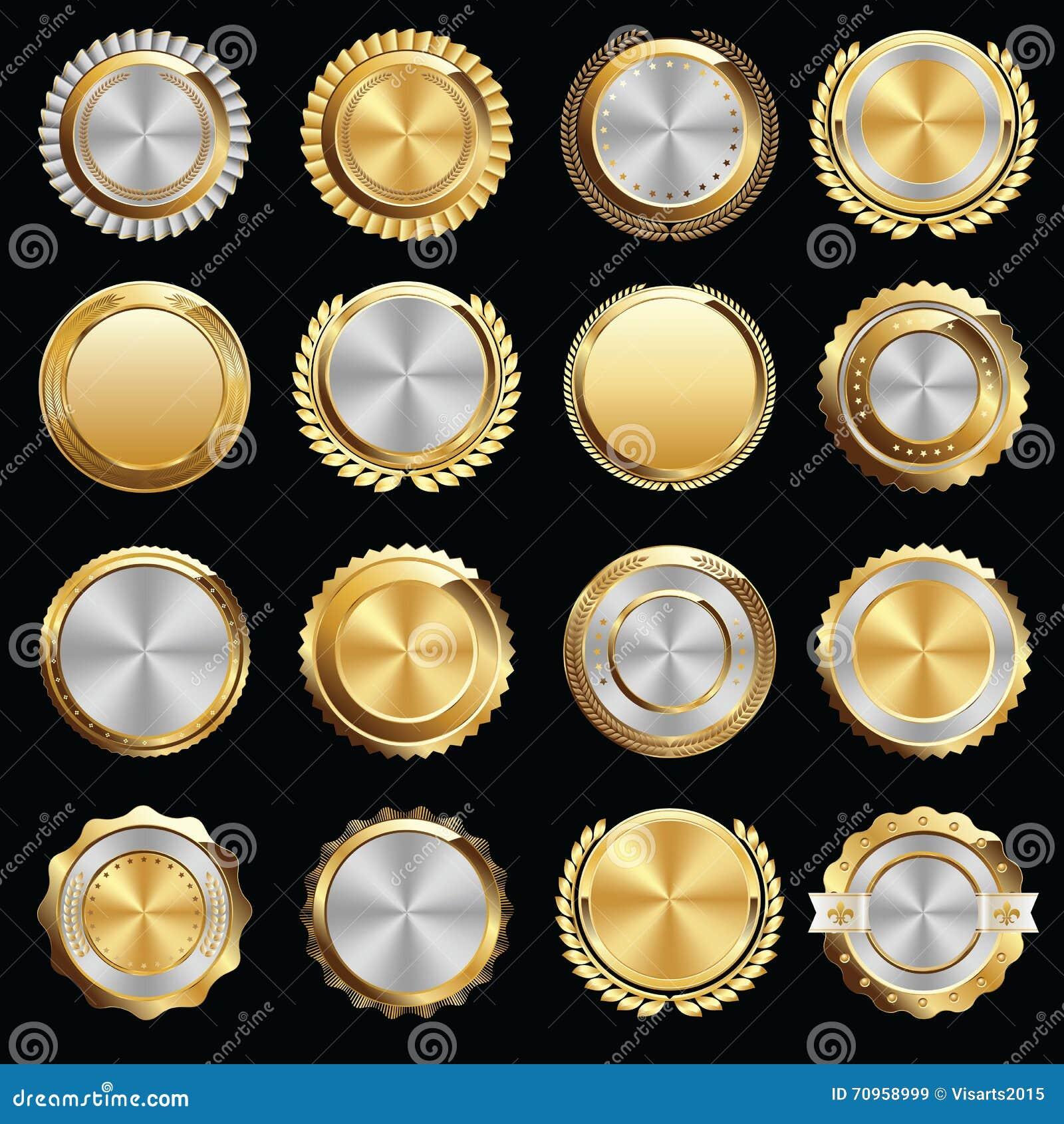 Set odznaki i foki Złocistego i Srebnego