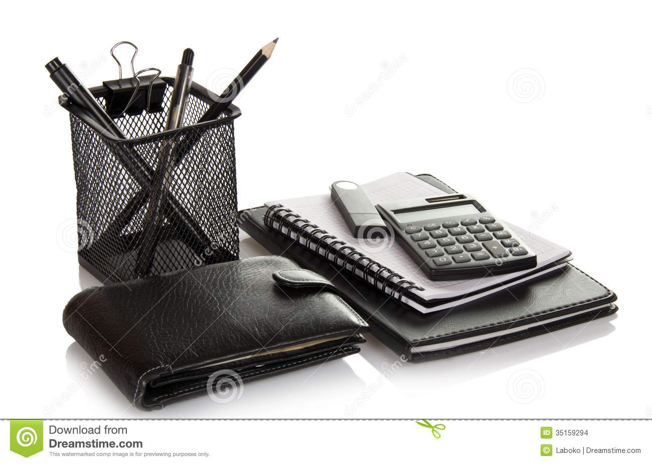 Set Of Office Accessories Stock Image Image