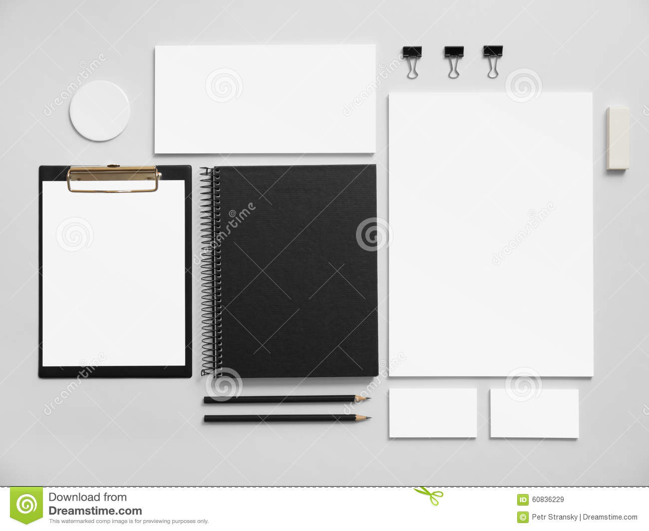 Set Of Office Stationery For Brand Presentation Stock Illustration ...