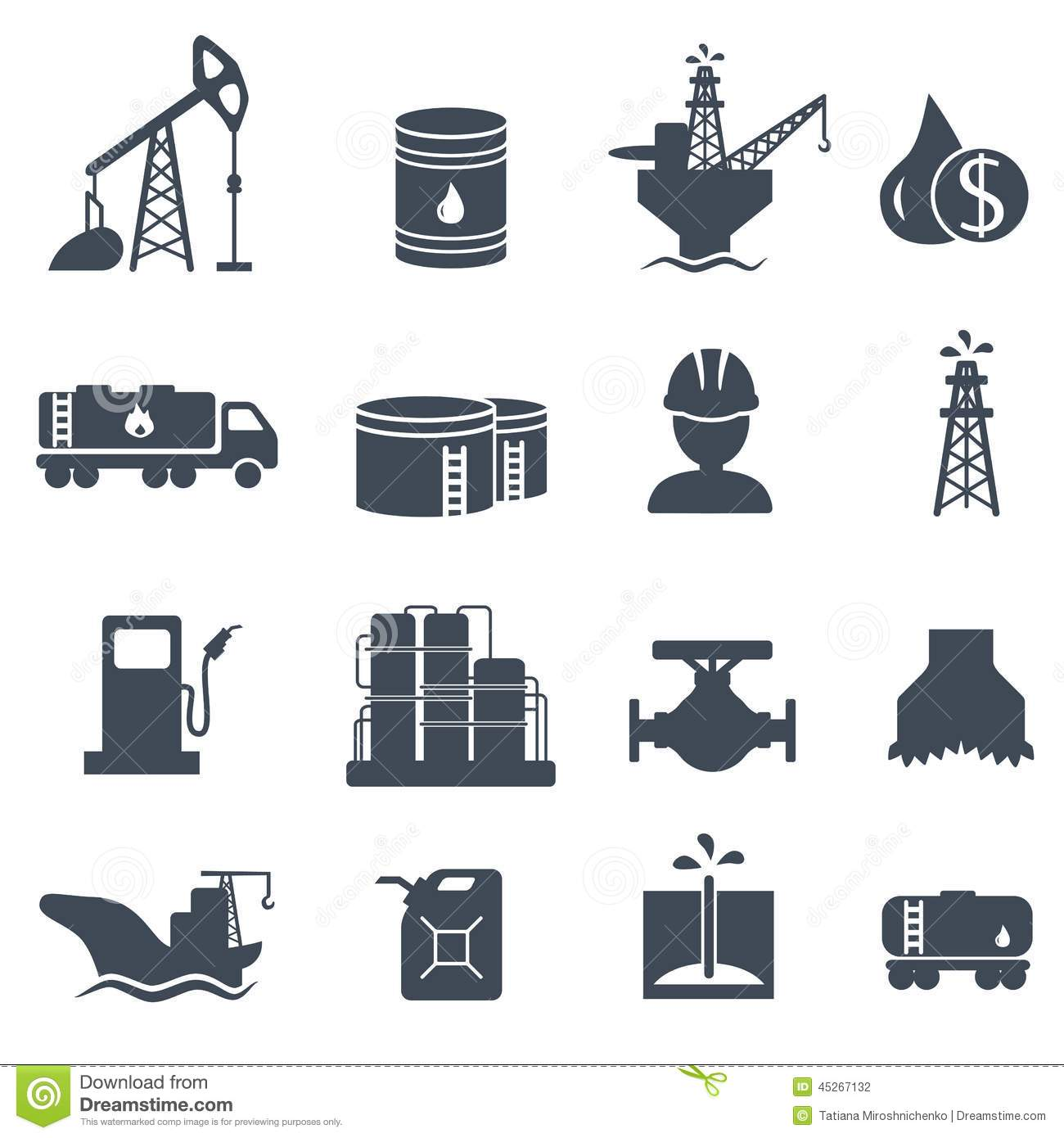 set of oil and gas grey icons petroleum industry stock oil derrick clip art black and white Oil Derrick Drawing