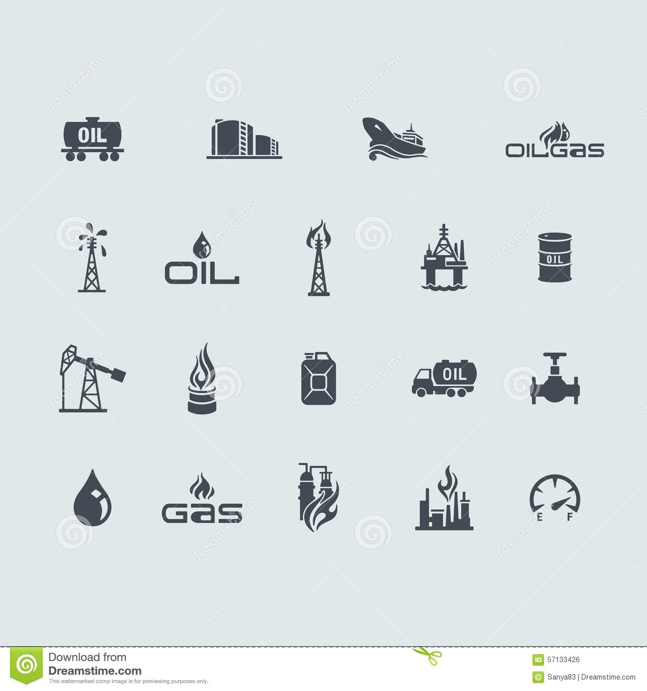 oil and gas icon set vector illustration