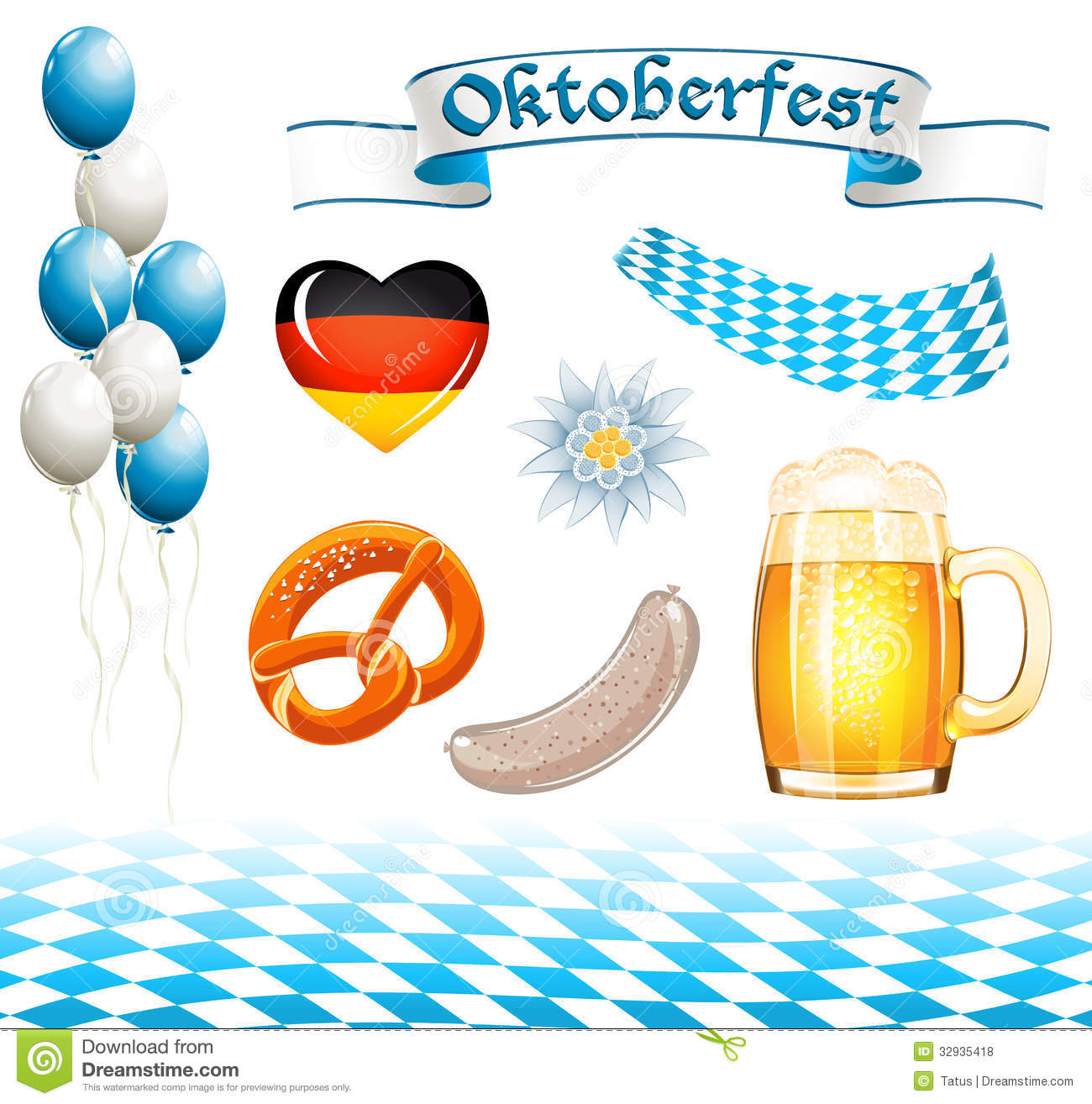 Set Of Oktoberfest Design Elements Editorial Stock Photo ...