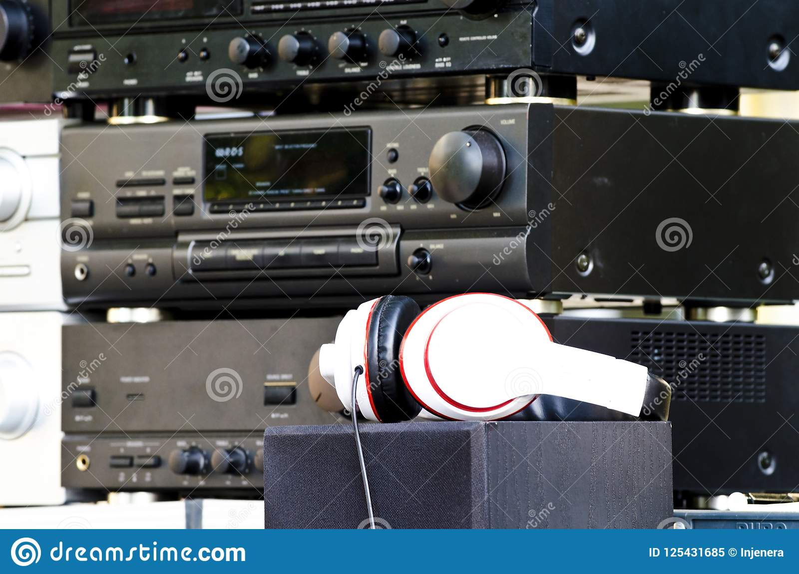 Old Audio Amplifiers No Longer Produced Stock Image Of Download