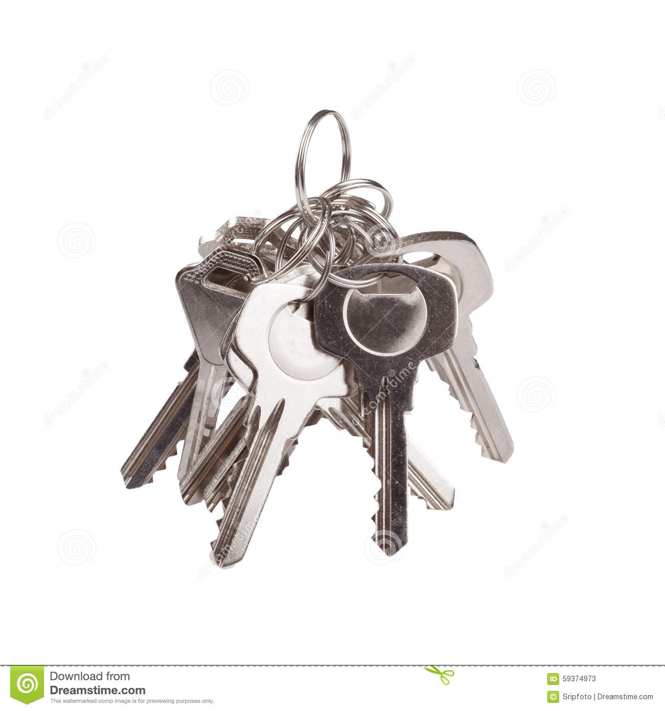 Set of old house keys isolated on the white stock photo for Classic house keys