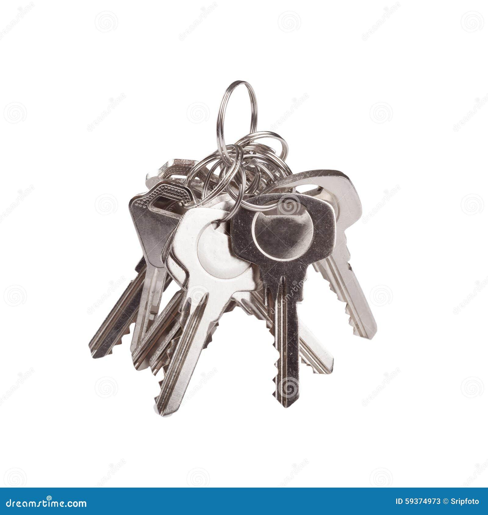 Set of old house keys isolated on the white stock photo for Classic house keys samplephonics