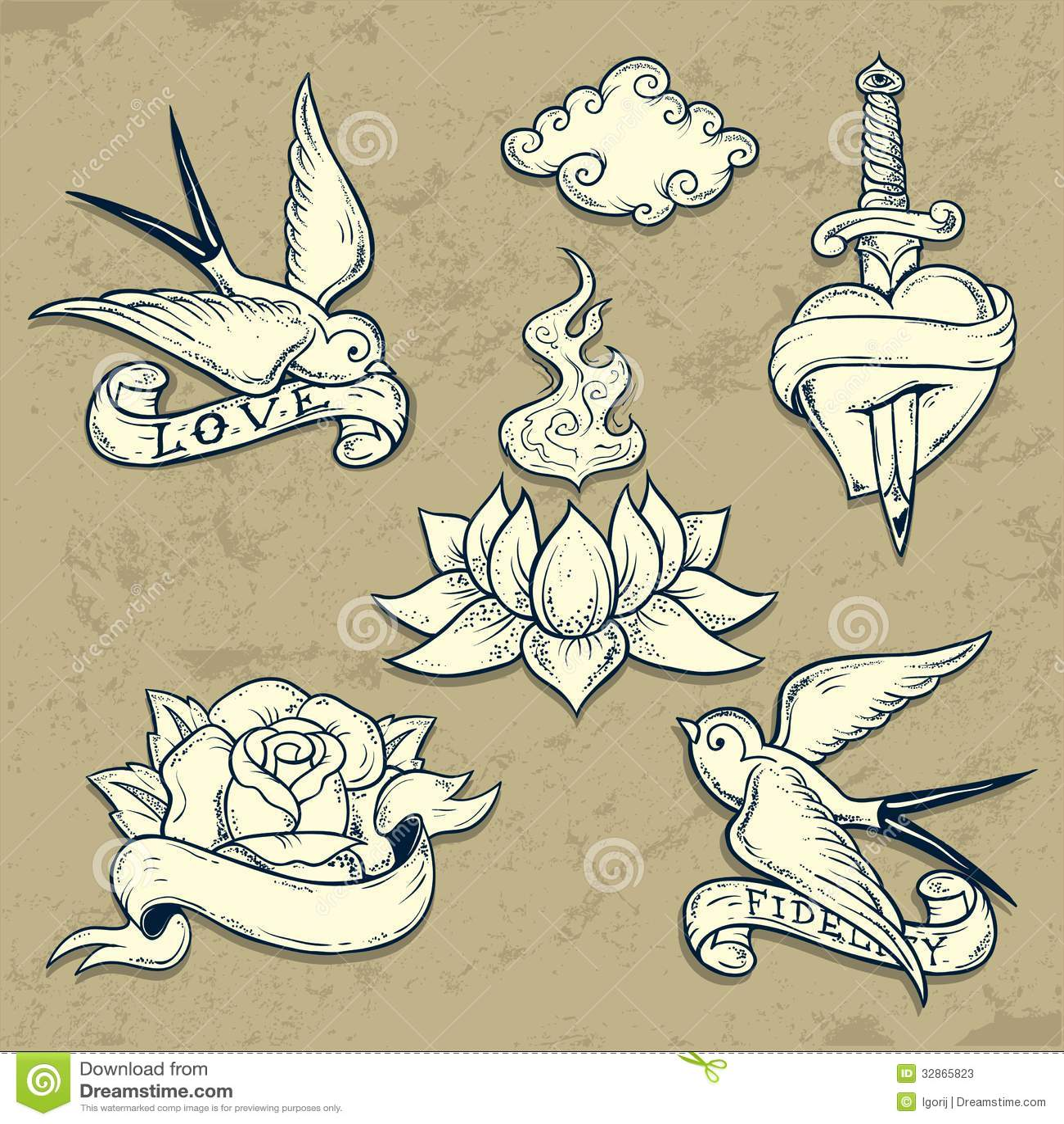 old school symbols