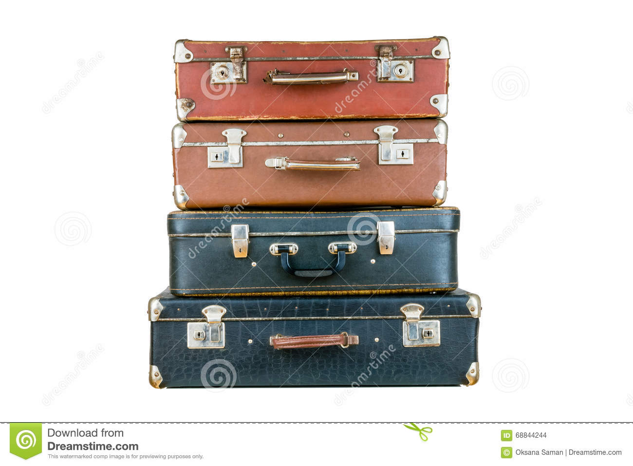 set of old suitcases royalty free stock image Travel Suitcase Clip Art Luggage Clip Art